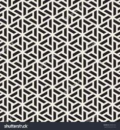 Vector Seamless Pattern. Modern Stylish Linear Texture. Repeating Geometric Tiles With Trapezoidal Elements. - 309802106 : Shutterstock