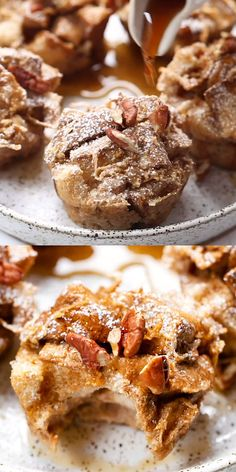 These amazing VEGAN french toast muffins are flavored with cinnamon and apple! They're healthy, naturally sweet, perfect for breakfast and easy to meal prep too! Gluten-free and made with flax eggs, a Breakfast Desayunos, Best Breakfast Recipes, Quick And Easy Breakfast, How To Make Breakfast, French Toast Muffins, Nutritious Smoothies, Pancakes And Waffles, Morning Food, Apple Recipes