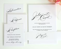 Vintage Glam Wedding Invitation Set