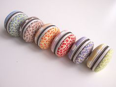 Macaron Jewelry Pouch/ Macaroon/ Coin Purse  by Chikaberry