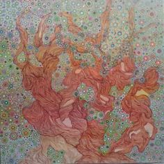 Ulivo fantasia Acrilico su tela(100x100)cm