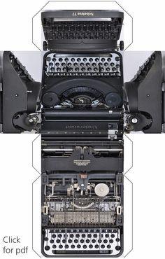 underwood typewriter printable