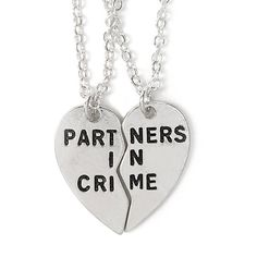Partners In Crime BFF Necklace Set (50 AUD) ❤ liked on Polyvore featuring jewelry, necklaces, accessories, chain pendants, chain necklace, pendants & necklaces, pendant jewelry and set necklace