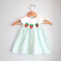 Sweet vintage strawberry baby dress