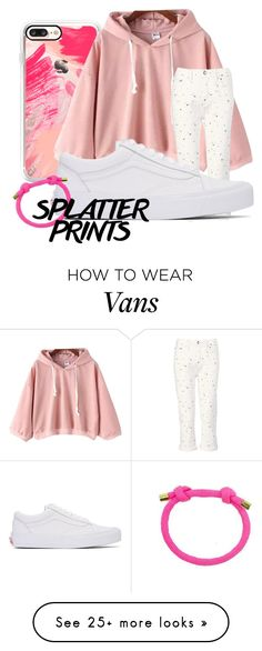"""splatter print #2"" by ayurizky on Polyvore featuring Casetify, Marc by Marc Jacobs, Vans and Moon and Lola"