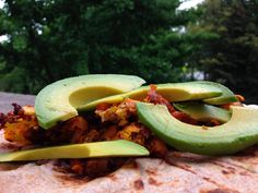Scrambled eggs with Mexican chorizo on a wheat roll topped with avocado slices. What are you having for lunch? #good_eats #lunch_recipes #brunch #healthy_eating #foodie | Houston TX | Gallery Furniture |