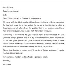 writing a reference letter for a friend Recommendation-Letter-for-Employment-for-A-Friend Sample Of Reference Letter, Professional Reference Letter, Writing A Reference Letter, Professional References, Letter Sample, Reference Images, Letter Writing, Cover Letter Template, Letter Templates
