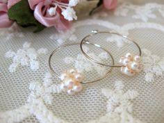 Tiny bubbles Classic pearl earrings Bridal jewellery by beadpod8, $16.90
