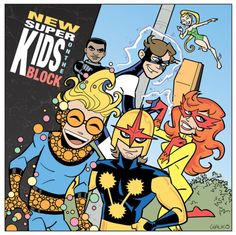 """For this week's """"The Line Is Drawn"""", it's super-hero album cover homages. Here, it's the mighty Marvel New Warriors prov. New Warriors NSKOTB Marvel Comics, Marvel Heroes, Marvel Dc, Alter Ego, Comic Art, Comic Books, New Warriors, Marvel Comic Character, Book Of Life"""