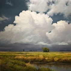 "Click and See:""Valley Thunderhead,"" by RENATO MUCCILLO48 x 48 - oil painting(sold $14,050)"