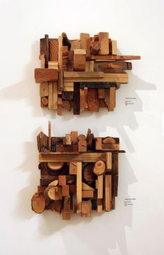 Wood scrap collages - Jason Lee Starin. Perhaps this is what I should do with all my scraps.