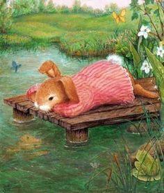 Susan Wheeler - little sad bunny Susan Wheeler, Beatrix Potter, Rabbit Art, Bunny Art, Children's Book Illustration, Whimsical Art, Cute Art, Illustrators, Cute Pictures