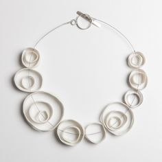 NECKLACE Australia Silver and Porcelain | 23 cm - by Marta Armada
