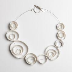 NECKLACE Australia Silver and Porcelain | 23 cm - by Marta Armada