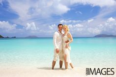 Crown Images photography by Sage: A Simple Beach Wedding on St John