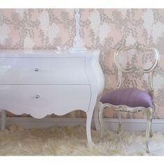 Sylvia Silver And Lilac Silk Seat