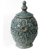 Found it at Wayfair - Vintage Crackle Lidded Decorative Jar