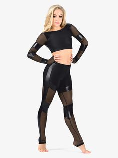 Baile Jazz, Dance Tights, Mesh Leggings, Dance Outfits, Leggings Fashion, Dance Costumes, Costume Design, Dance Wear, Cute Dresses