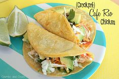(Crockpot) Cafe Rio Chicken - Crumbs and Chaos... a very different version than Your Homebased Mom!!!