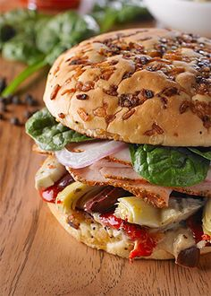 Mediterranean Turkey Sandwich - Cobblestone Bread Co.