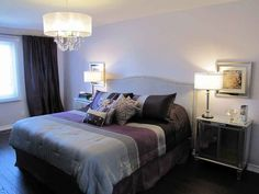 Imaginative Purple And Grey Bedroom Des - Very light