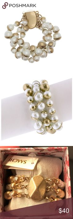 "12 Tarnished Italian Gold Metal Shank Buttons Pearl /& Rhinestones 3//4/"" Vintage"