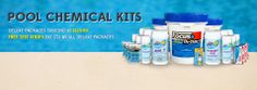 Buy the pool chemicals packages and save more money.