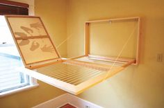 Hidden Drying Rack (Behind A Canvas!) - No instructions, so if I decide to use this one I'll make some!
