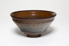 """Conical Tea Bowl, Song dynasty (960-1279). Jian ware; stoneware with dark brown """"hare's fur"""" glaze. H. 6.3 cm (2 1/2 in.); diam. 12.6 cm (4 15/16 in.). Lucy Maud Buckingham Collection, 1924.327. Ar..."""