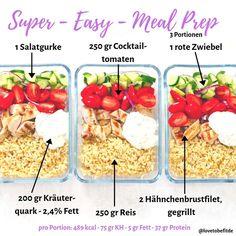 Bock auf ein Mittagessen für Mo-Mi im Büro ohne viel Rumkocherei? Dann ist dieses Super- Easy - Meal Prep perfekt für dich! ⠀⠀⠀⠀⠀⠀⠀⠀⠀ Was… Easy Meal Prep, Easy Meals, Fitness Meal Prep, Lunch To Go, Super Easy, Prepping, Vegetables, Health, Recipes