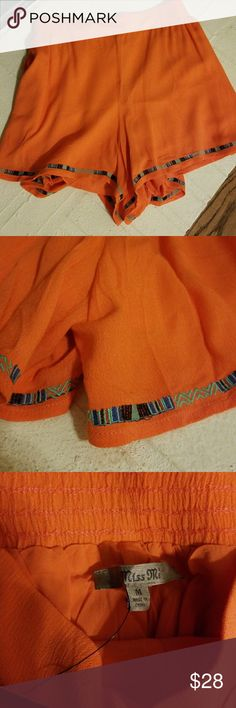 Miss Me shorts NWT NWT Miss Me shorts. Orange with Aztec print trim. Lined Miss Me Shorts