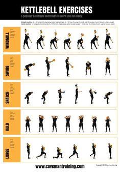 Kettlebell Workout Routines, Sandbag Workout, Best Kettlebell Exercises, Kettlebell Challenge, Hiit, Gym Workout Tips, Ab Workout At Home, Workout Challenge, Workout Videos