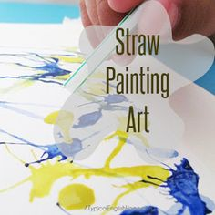 A Typical English Home: Straw Painting Art --  good for Webelos artist. Wish I'd seen it sooner!