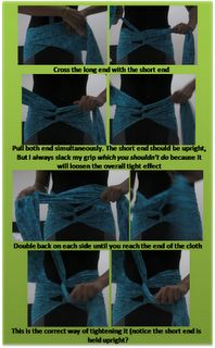 Step-by-step traditional belly-binding for helping abdominal muscles heal back together postpartum. YES!!!