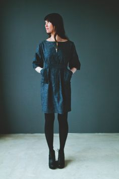 denim pocket dress // Martha W McQuade