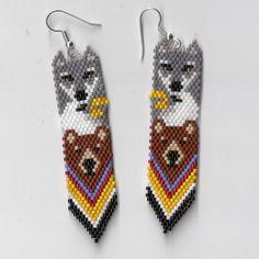 Totem Pole Earrings by Edithscustomcrafts on Etsy, $19.99