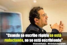 En Medellín, Alberto Salcedo Ramos sostiene hoy, y durante dos días más, un diálogo con periodistas antioqueños que fueron ganadores del la Beca de Creación en Periodismo Cultural, convocada por la Secretaría de Cultura Ciudadana de la Alcaldía de Medellín. Los invitamos a compartir estos momentos con nosotros siguiendo la etiqueta #CrónicaCulturalFNPI en las redes sociales Facebook y Twitter.   + información sobre Salcedo Ramos en el blog: www.fnpi.org/periodismocultural2014/maestro/