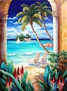 Tropical Splendor by Sissi Janku ~ tropical art