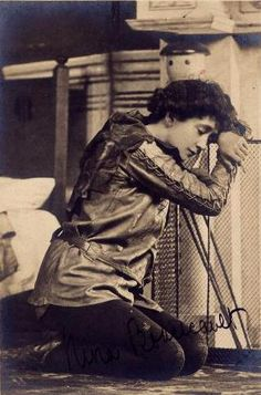 Nina Boucicault as Peter, crying over his lost shadow in the first stage production of Peter Pan or The Boy Who Wouldn't Grow Up. The play opened on December 27, 1904 at the Duke of York's Theatre in London.