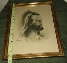 Original Drawing Head of Christ by W.E. by oldnsalvagedtreasure, $2746.52