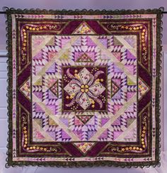 """"""" Delectable Mountain Garden"""", 2013 Raffle Quilt, Illinois Quilters"""