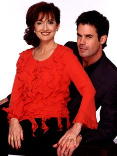 Tuc Watkins and Robin Strasser who play husband and wife on One Life to Live!