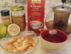 Ma petite cuisine gourmande sans gluten ni lactose: Mon thé chai et mon dessert yaourt de soja cannelle-citron-miel