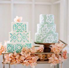 (R) hawaiian embroidered cake