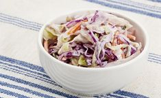 Weight Watchers Classic Coleslaw Recipe with fat free mayonnaise, cayenne pepper, garlic powder, and celery seeds. A quick and easy side dish. 2 WW Freestyle Points and 2 Smart Points Skinny Recipes, Ww Recipes, Side Dish Recipes, Great Recipes, Cooking Recipes, Side Dishes, Favorite Recipes, Weight Watchers Sides, Weight Watchers Lunches