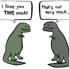 Dinosaur love.