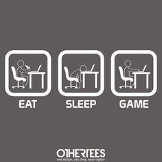 """""""Eat, Sleep, Game - PC"""" by thehookshot Shirt on sale until 25 June on othertees.com Pin it for a chance at a FREE TEE! #pcgames #games"""