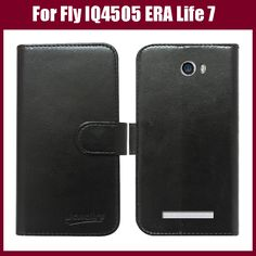 Hot! Fly IQ4505 Case New Arrival 6 Colors High Quality Flip Leather Protective Cover For Fly IQ4505 ERA Life 7 Quad Phone Case #Affiliate
