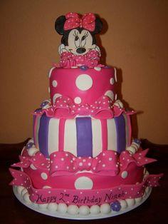 Sin Dudarlo Que Mires Estas Tortas De Cumpleaños Minnie cakepins.com