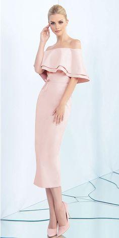 107.09  Romantic Acetate Satin Off-the-shoulder Neckline Tea-length Sheath    Column Prom Dress With Sash   Bowknot 44a7408cde22